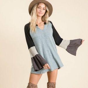 Soft & Beautiful Multi Color Raglan Top